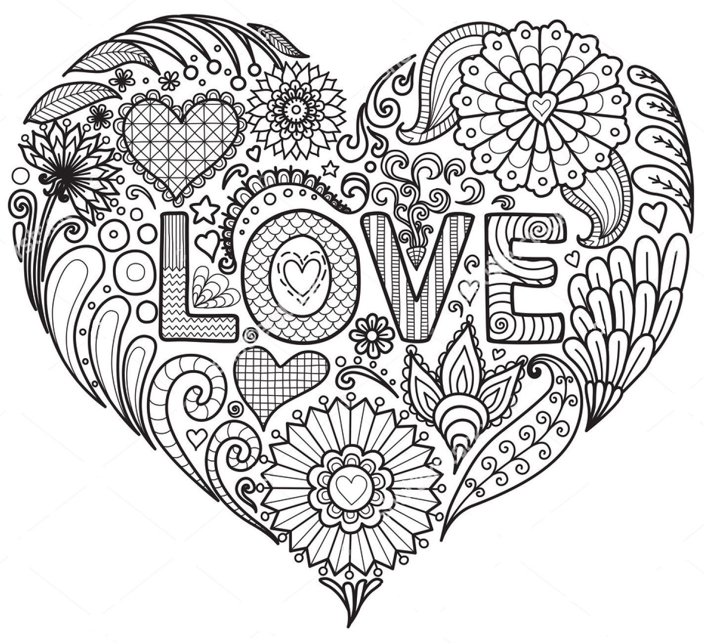 mandala 1 corazon love