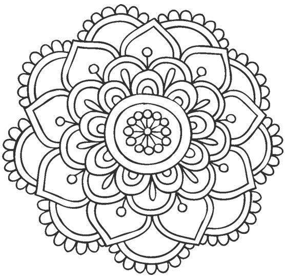 mandala 100 flor
