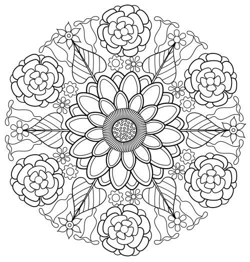 mandala 126 de flores