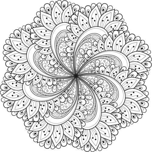 mandala 127 de flores