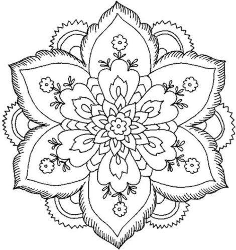 mandala 128 de flores