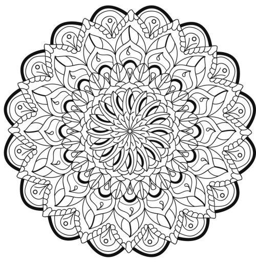 mandala 132 de flores