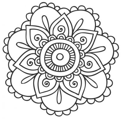 mandala 133 de flores