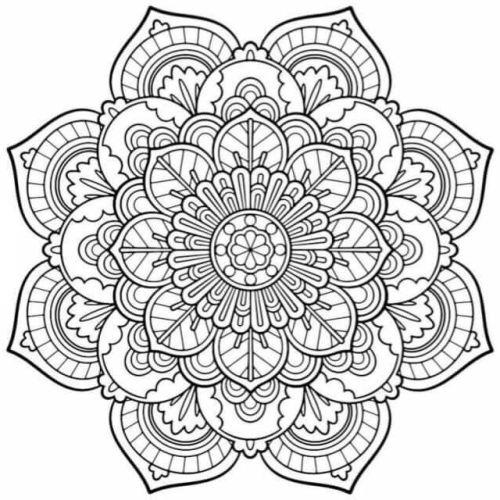 mandala 134 de flores