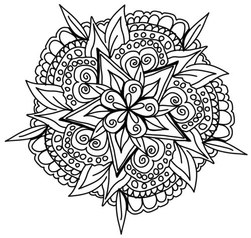 mandala 135 de flores