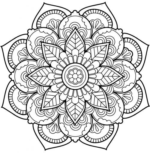mandala 136 de flores