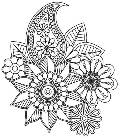 mandala 137 de flores