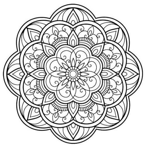 mandala 138 de flores
