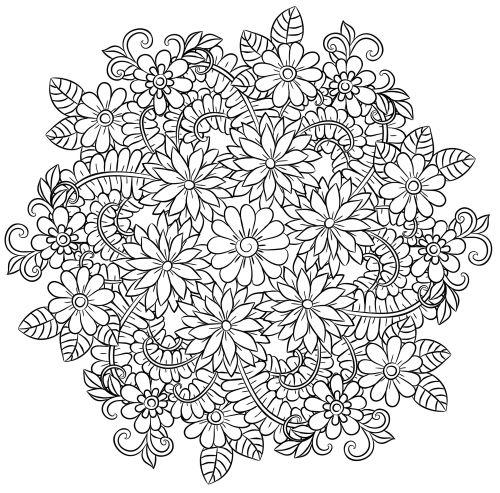 mandala 139 de flores