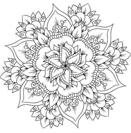 mandala 141 de flores