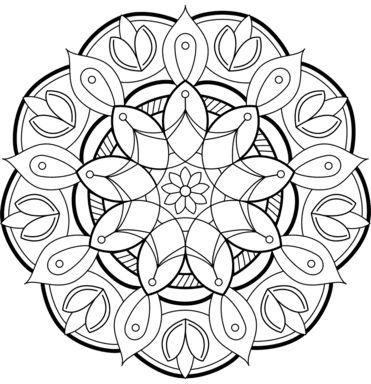 mandala 143 de flores