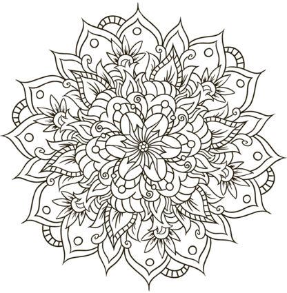 mandala 144 de flores