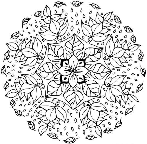 mandala 146 de flores