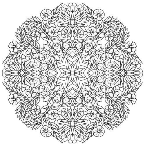 mandala 148 de flores