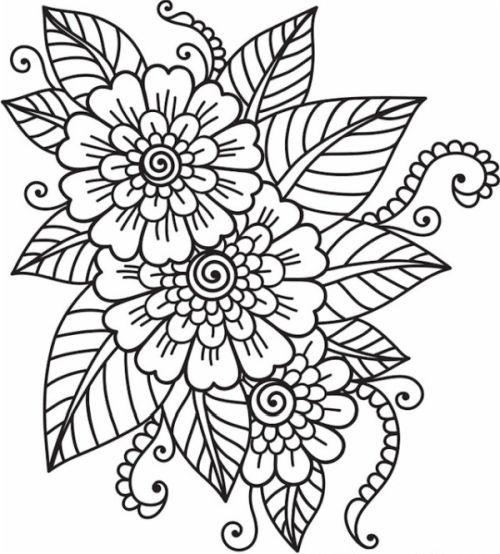 mandala 149 flores y petalos