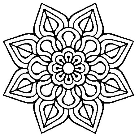 mandala 155 flor sencilla