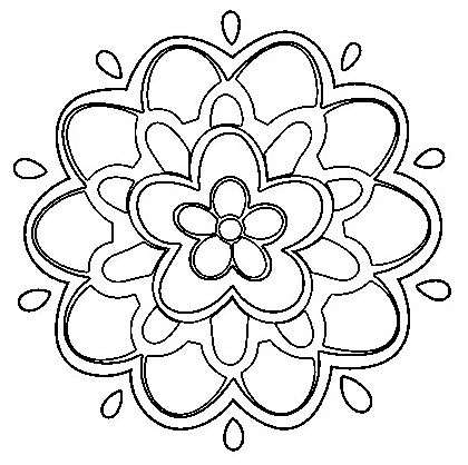 mandala 156 flor facil