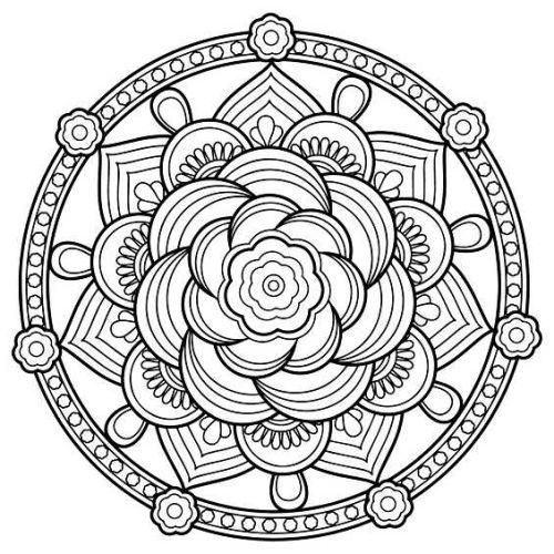 mandala 157 flor circular