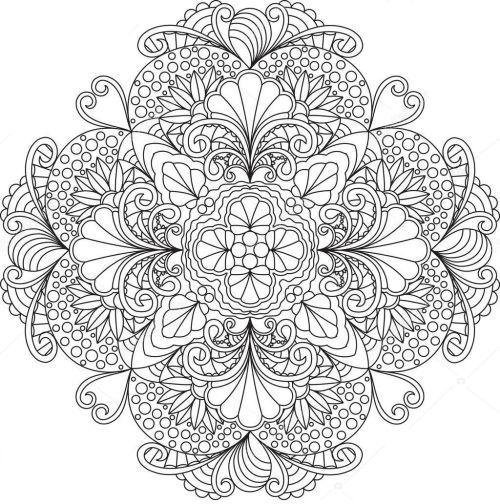 mandala 160 flores