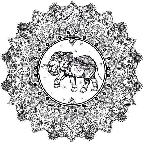 mandala 166 elefante
