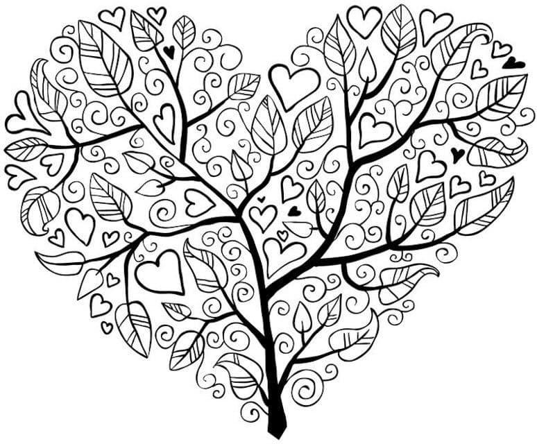 mandala 17 arbol y corazon