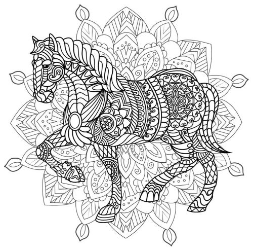 mandala 173 caballo