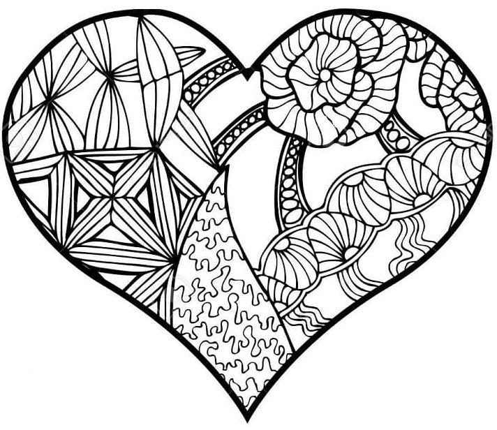 mandala 18 corazon