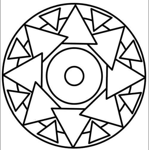 mandala 217 triangulos
