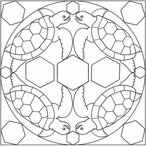 mandala 235 tortugas y hexagonos
