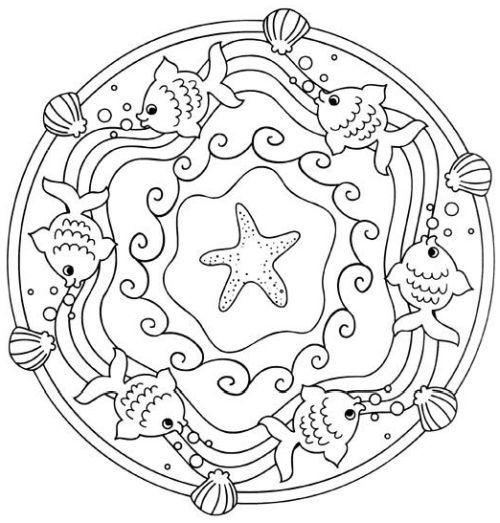 mandala 240 estrella conchas y pececitos