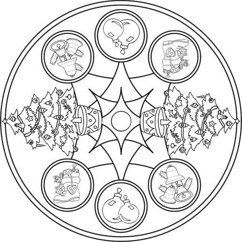 mandala 242 arboles y adornos de navidad