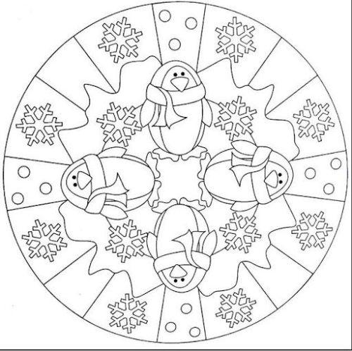 mandala 246 hielo y pinguinos