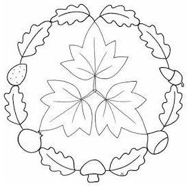 mandala 250 hojas bellotas setas