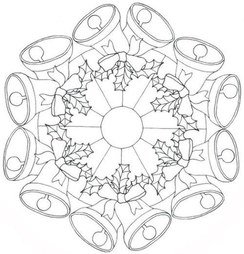 mandala 254 campanas de navidad