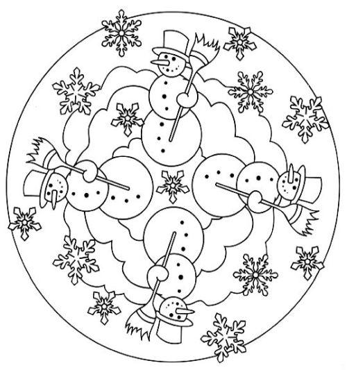 mandala 259 munecos de nieve