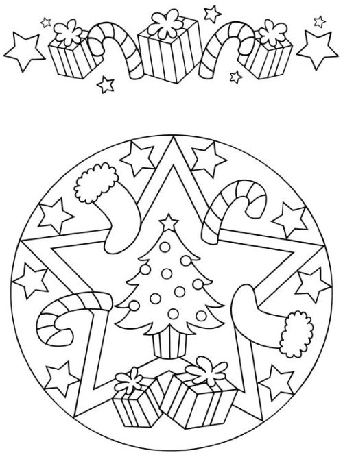 mandala 261 arbol de navidad y regalos