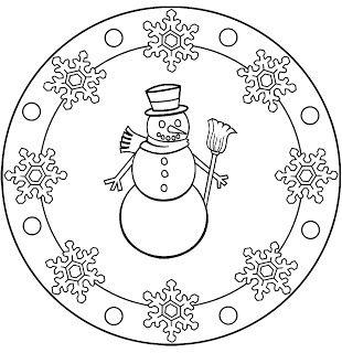 mandala 262 muneco de nieve