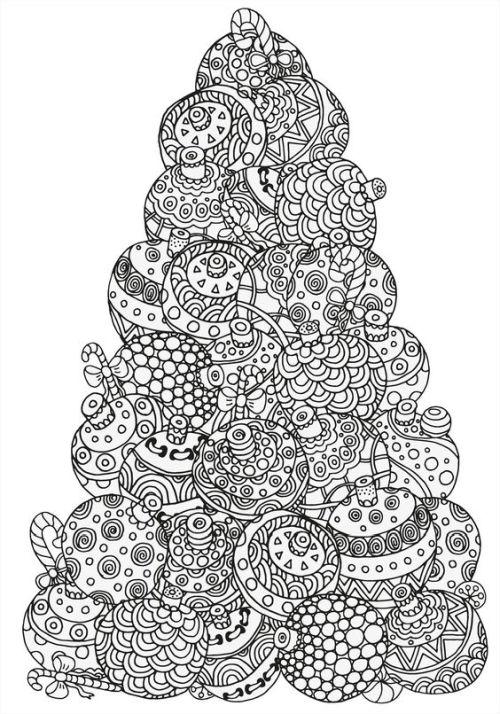 mandala 266 bolas de navidad con forma de arbol