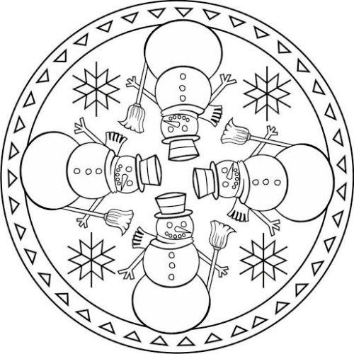 mandala 269 munecos de nieve