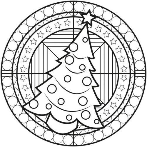 mandala 270 arbol de navidad