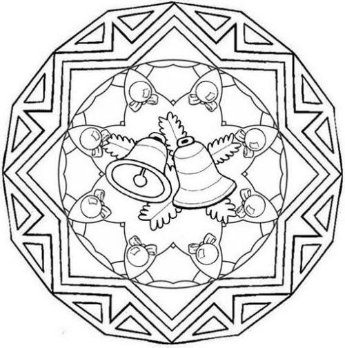 mandala 286 campanas de navidad