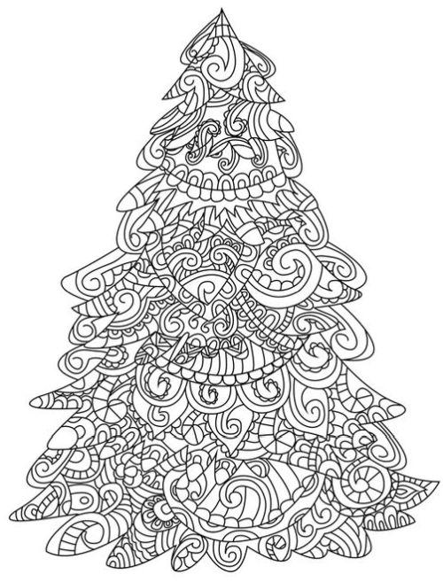 mandala 288 arbol de navidad