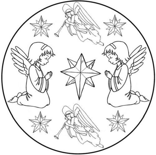 mandala 289 angeles y estrellas de navidad