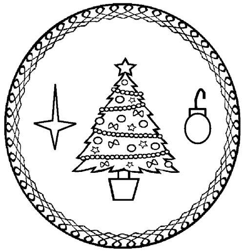 mandala 299 arbol de navidad