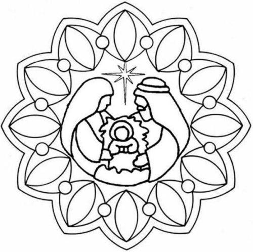mandala 301 nino jesus san jose y la virgen