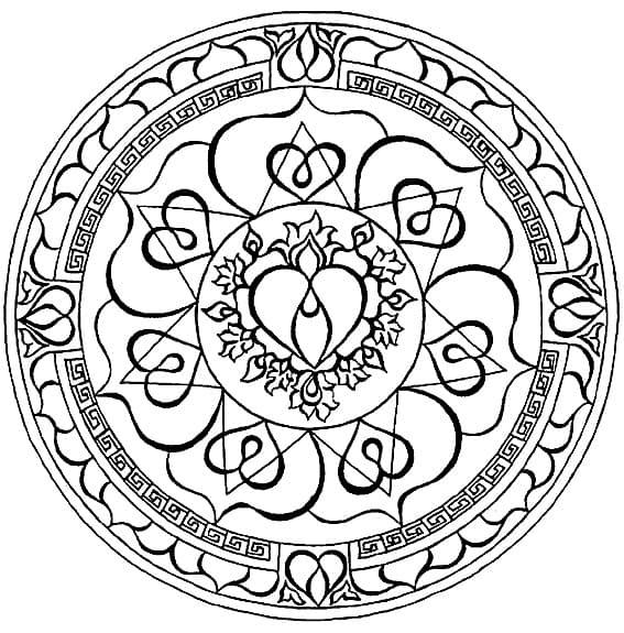 mandala 39 budista corazon