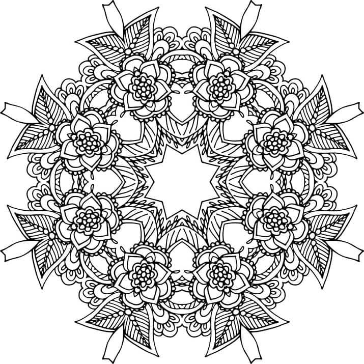 mandala 41 flores