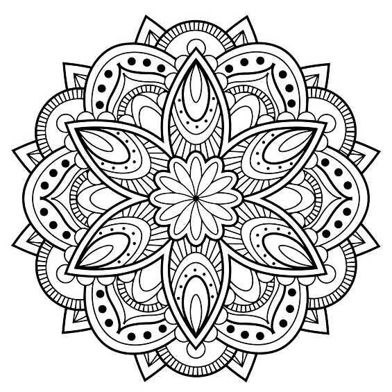 mandala 50 flor
