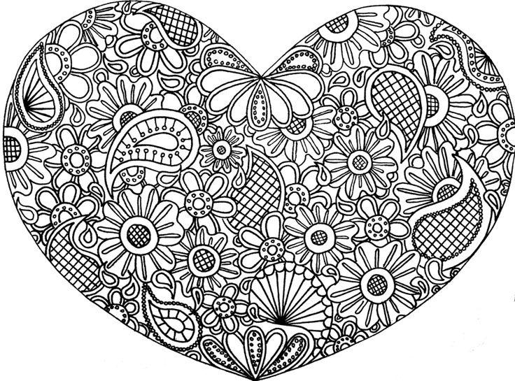 mandala 7 corazon con flores