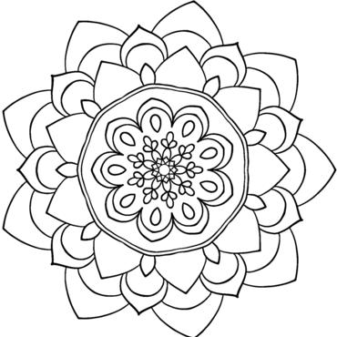 mandala 70 flores